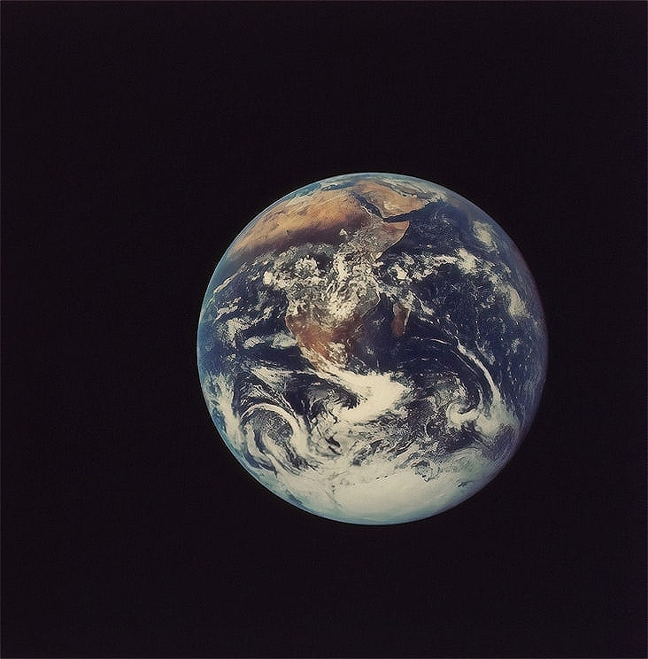 The earth viewed from space
